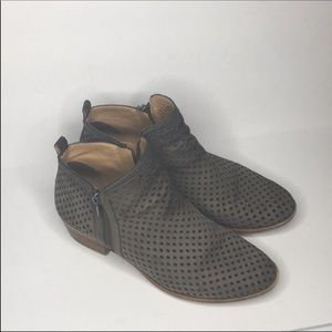 Lucky Brand Basel 3•Booties in dark stone